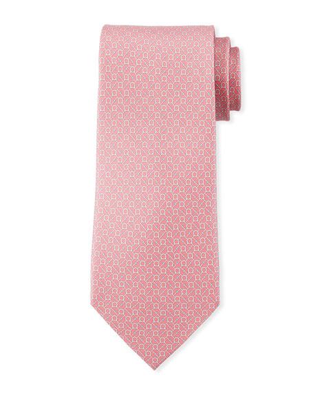 Salvatore Ferragamo Gancini Chain Silk Tie