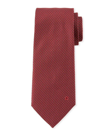 Salvatore Ferragamo Dashed Silk Tie
