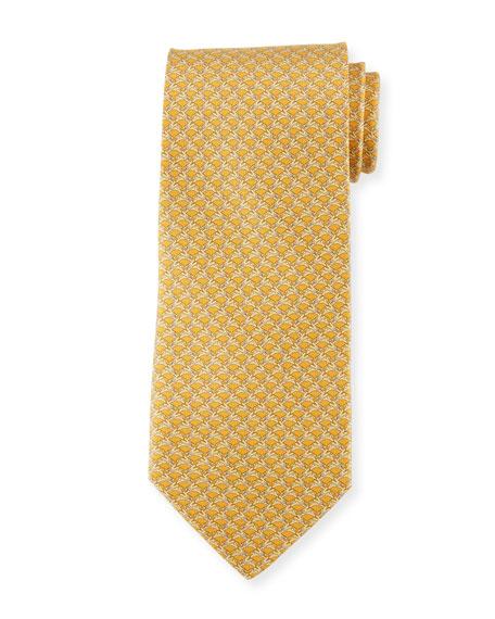 Salvatore Ferragamo Rabbit-Pattern Silk Tie