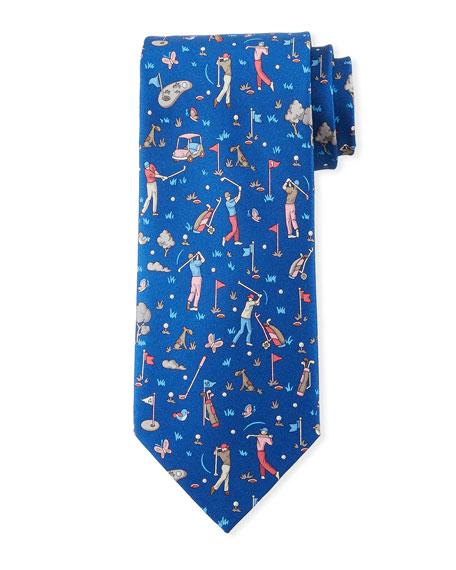 Salvatore Ferragamo Golfers Silk Tie