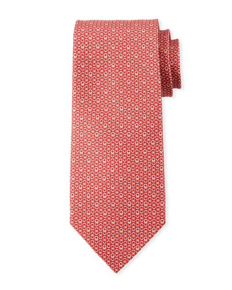 Interlocking Gancini Silk Tie