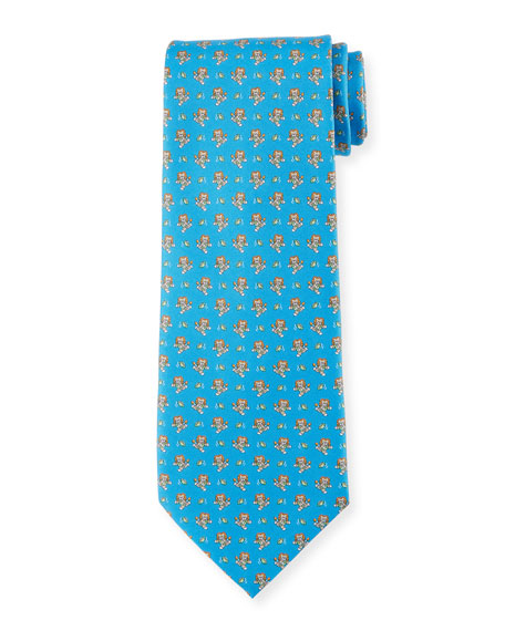 Football Lion Silk Tie
