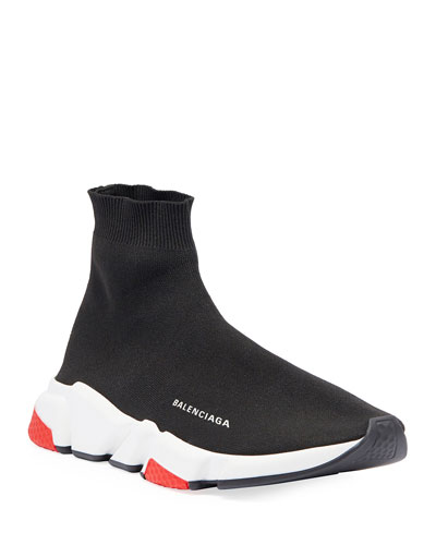 Speed Mid-Top Trainer Sock Sneaker