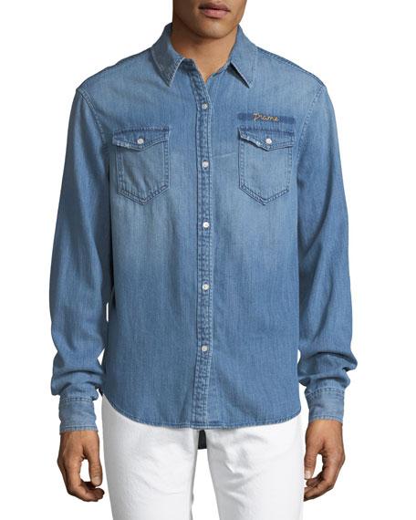 Military Woven Denim Shirt