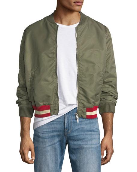 Bomber Jacket w/ Contrast Hem