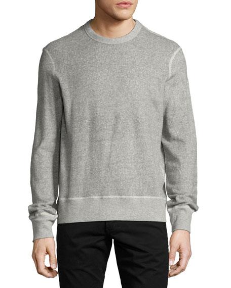 Toweling Sweatshirt, Heather Gray
