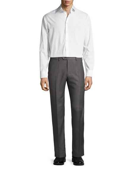 Soho Micro-Hopsack Trousers, Gray