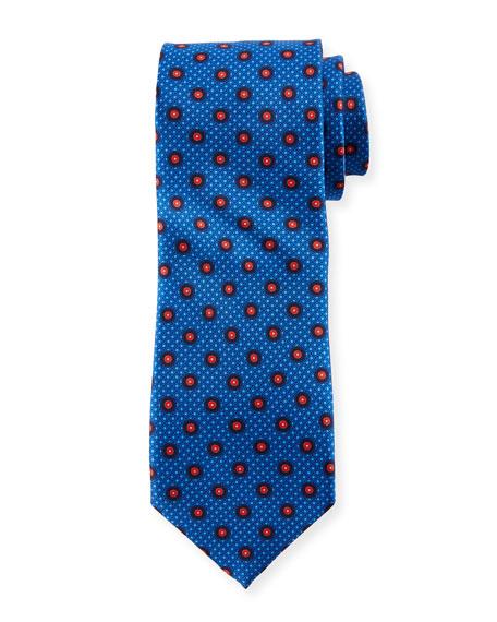 Canali Multi-Circles Silk Tie, Blue