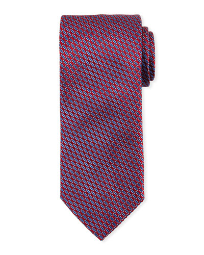 Lattice Silk Tie, Red