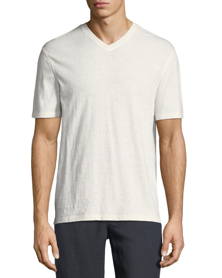Cotton/Linen V-Neck T-Shirt