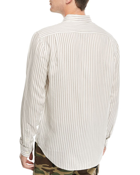 Vintage Striped Long-Sleeve Shirt
