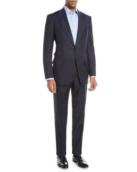 Windsor Melange Striped Two-Piece Wool Suit