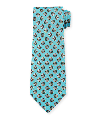 Printed Medallion Silk Tie