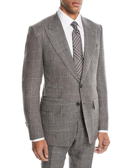 Shelton Large-Plaid Wool-Blend Two-Piece Suit