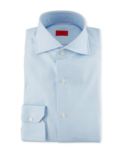Jacquard Cotton Dress Shirt