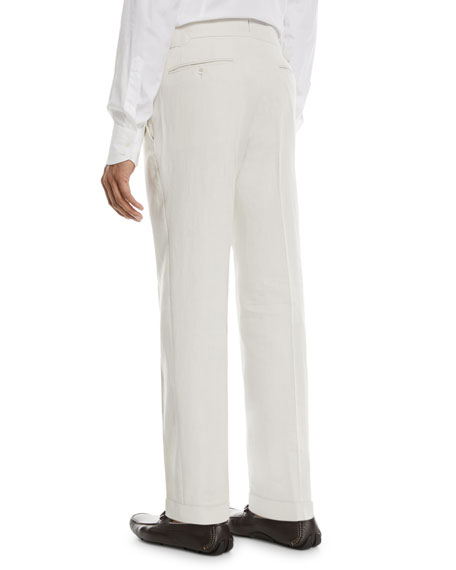 Solid Linen Trousers