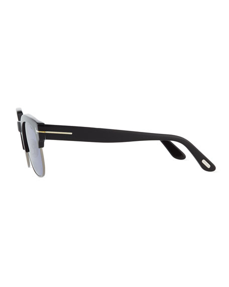 ae2b82f194a TOM FORD Harry Acetate Metal Half-Rim Sunglasses