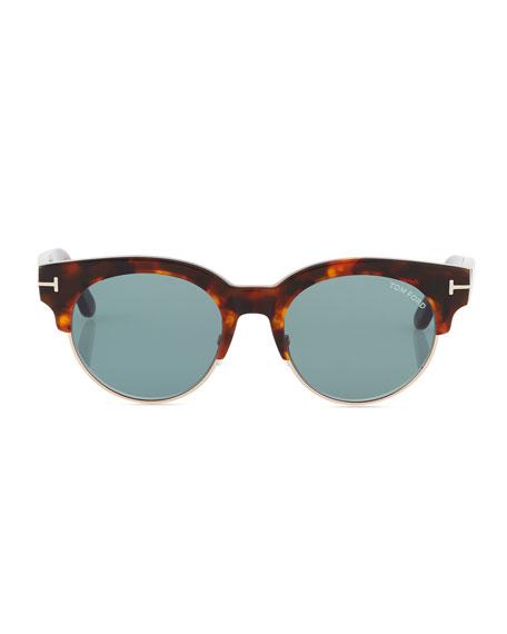 Henri Half-Rim Sunglasses