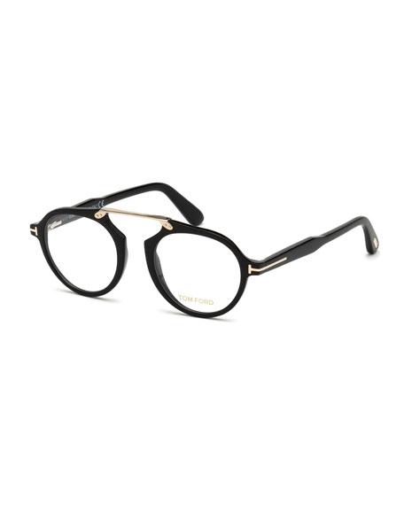 d8e893edd8f39 TOM FORD Round Acetate Optical Bridgeless Glasses