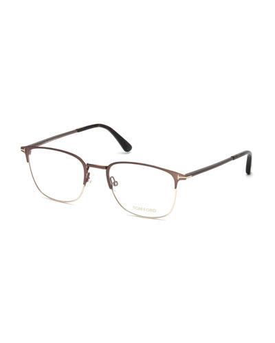 Half-Rim Metal Optical Glasses