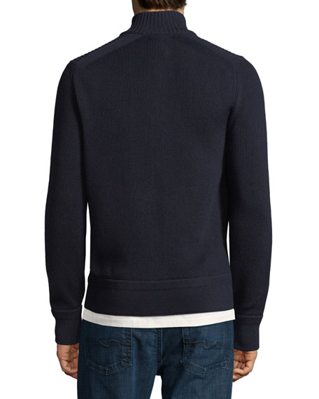 Ribbed Extrafine Turtleneck Sweater