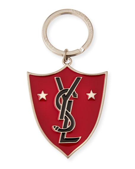 Logo Shield Brass-Plated Key Ring