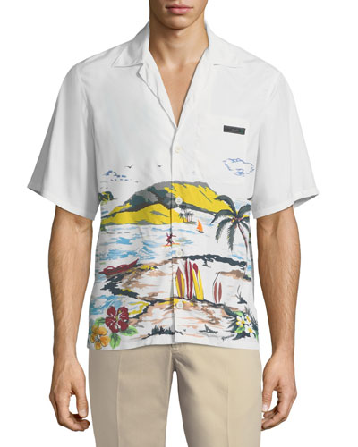 Paradise Graphic Bowling Shirt