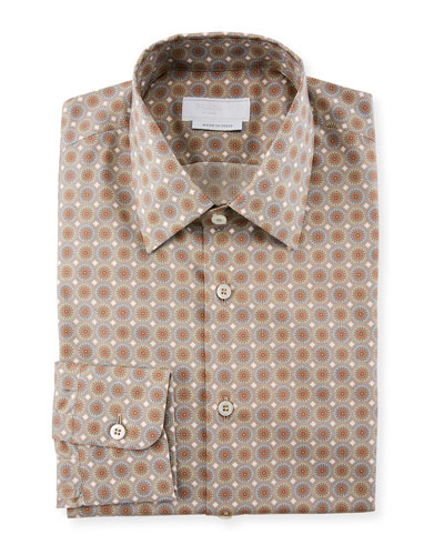 Mini Circle Poplin Dress Shirt