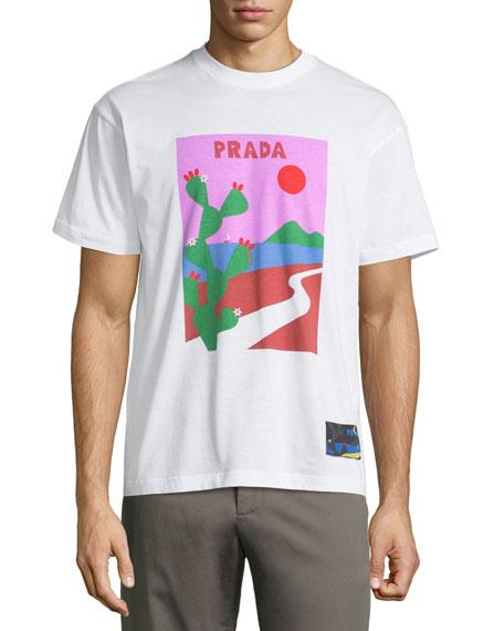 13596d33839ae0 Prada Cactus Desert Logo T-Shirt
