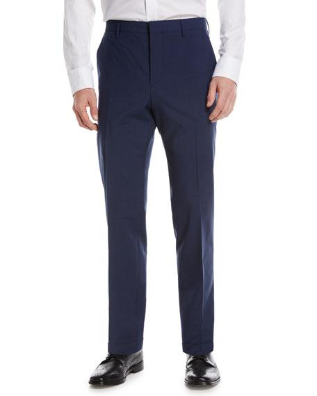 Mini Check Wool-Blend Pants