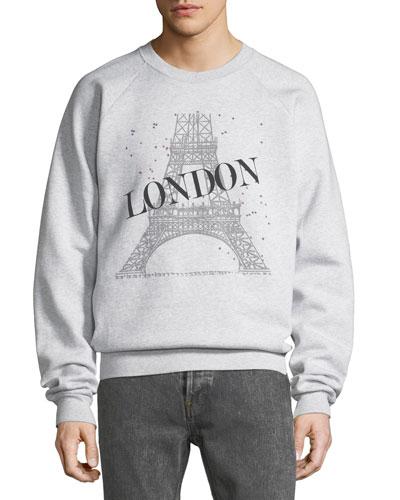 Eiffel Tower Graphic Sweatshirt