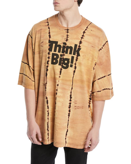 Think Big Graphic Tie-Dye Oversized T-Shirt