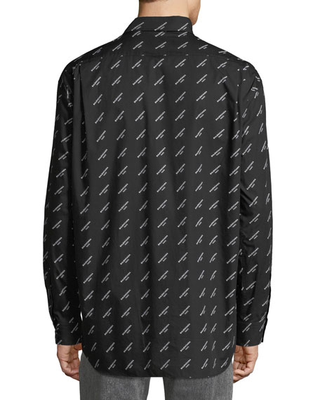 Logo-Printed Regular-Fit Sport Shirt