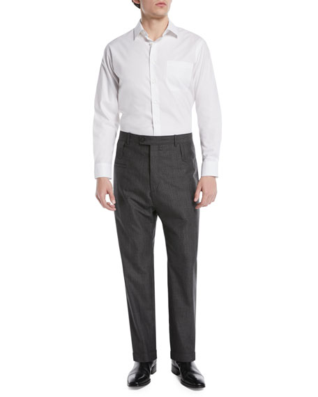 High-Rise Double Belt-Loop Trousers