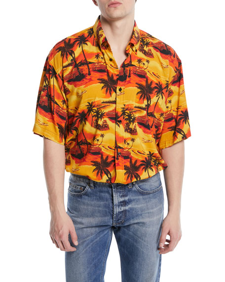 Oversized Viscose Hawaiian Shirt