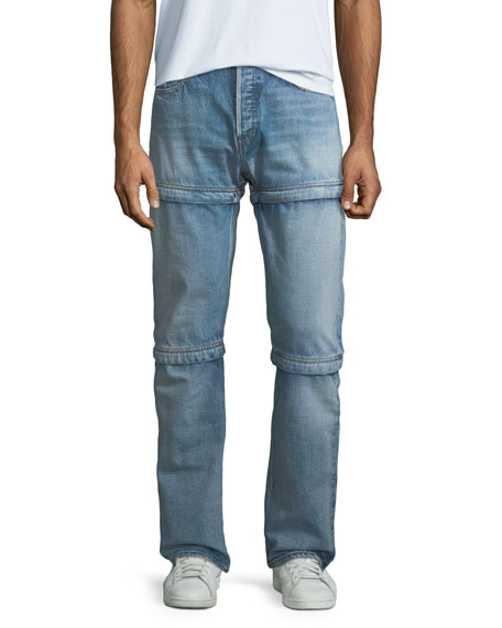 3 In 1 Convertible Dirty Blue Jeans by Balenciaga