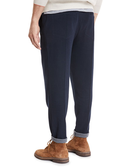 Solid Cotton Jersey Sweatpants