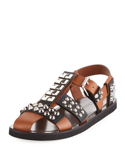 Novo Studded Leather Sandal