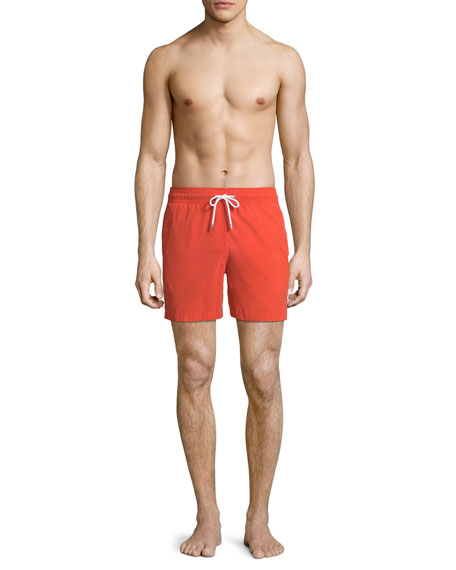 Aruba 1 Classic-Fit Swim Trunks, Orange
