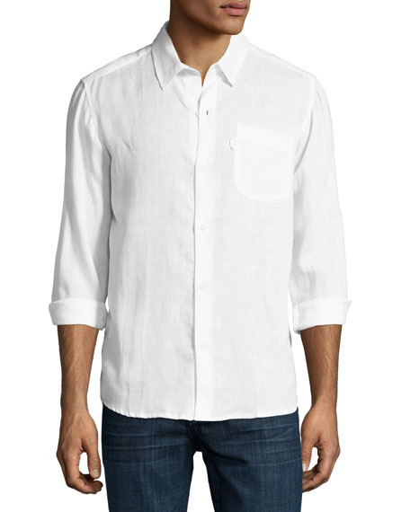 Derek Rose Monaco Linen Sport Shirt