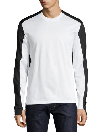 Colorblock Long-Sleeve T-Shirt