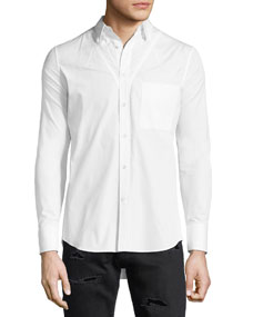 Darted Cotton Sport Shirt by Alexander Mc Queen