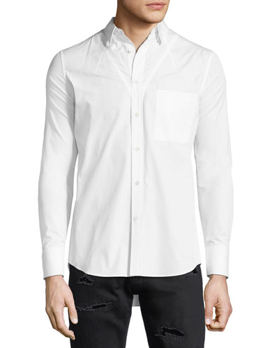Darted Cotton Sport Shirt