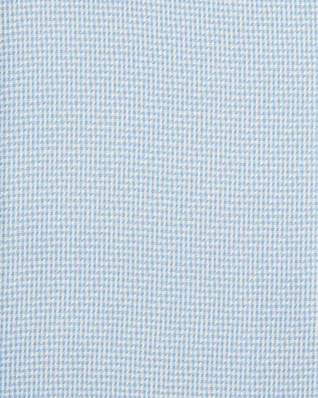 Micro Check Cotton Jacquard Dress Shirt