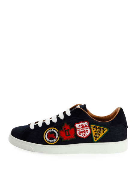 Men's Low-Top Sneakers with Patches