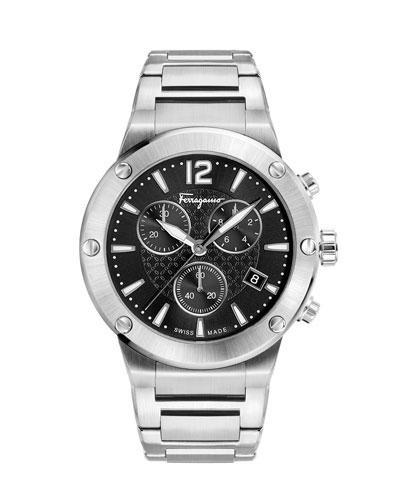 Men's 44mm F-80 Bracelet Watch  Black