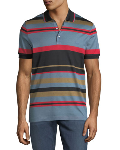 Men's Cotton Striped Polo Shirt