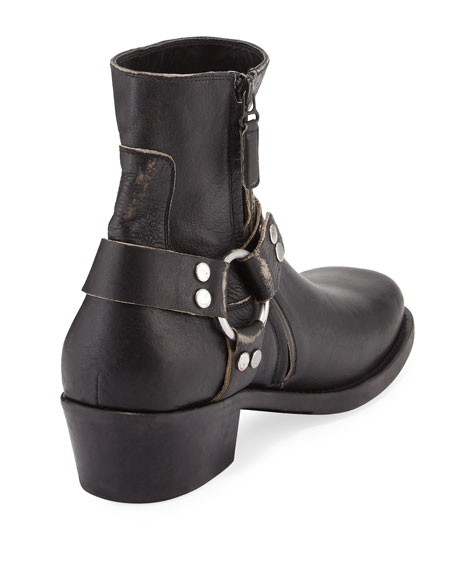 Leather Harness Boot