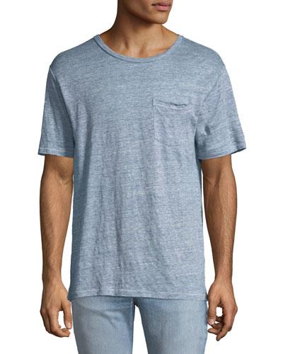 Men's Owen Over-Dyed Linen T-Shirt