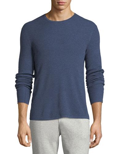 Men's Gregory Waffle-Knit Merino Wool Sweater